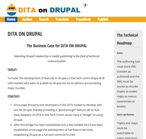 screenshot of ditaondrupal.com website